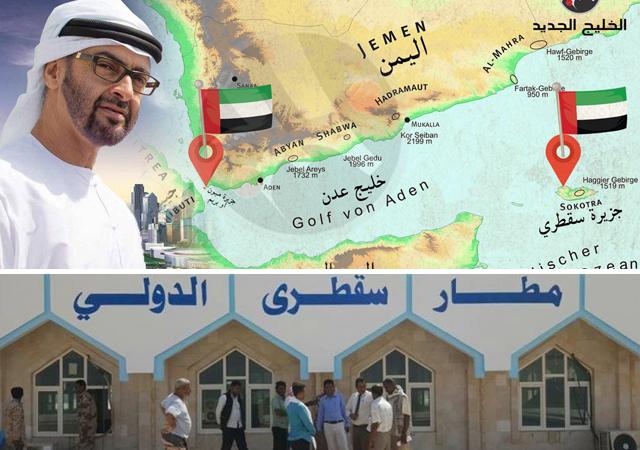 BAE Askerleri Yemenlilerin Sokotra havaalanına girişini engelliyor