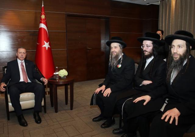 İsrail karşıtı Yahudiler Erdoğan'ı ziyaret etti
