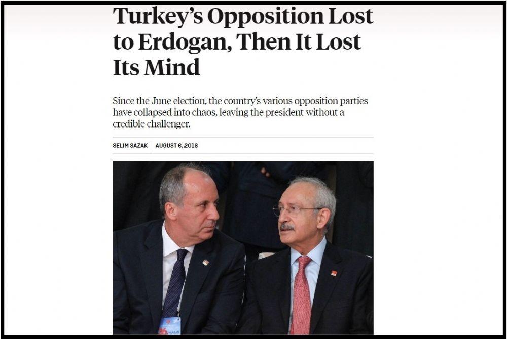 Muhalefet önce Erdoğan'a karşı kaybetti, ardından aklını kaybetti