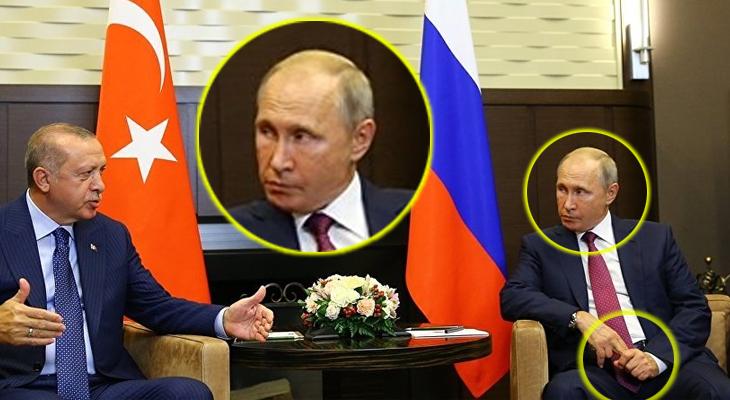 Putin'in bu şeytanî bakışını AA servis etti, Sputnik yayınladı