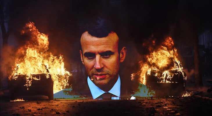 Fransa yanıyor, Macron çaresiz...