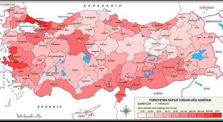 Türkiye'nin nüfusu 82 milyon 3 bin 882